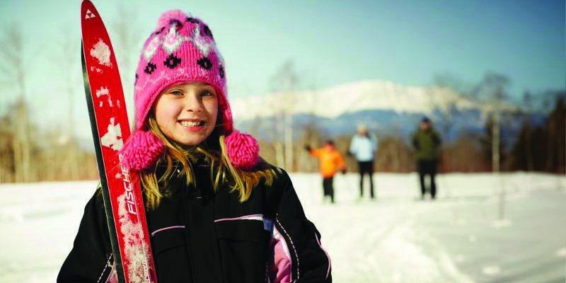 Bangor Maine Skiing Girl