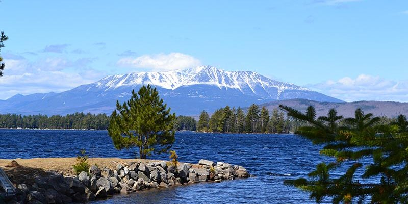 Bangor Maine View of Katahdin