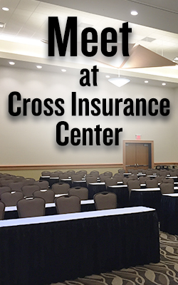 meet at cross insurance center banner