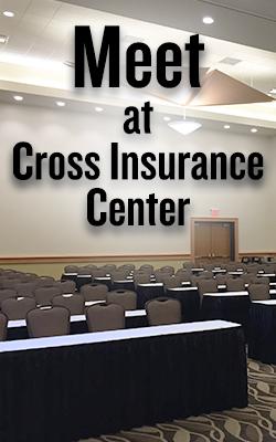 meet at cross insurance center banner